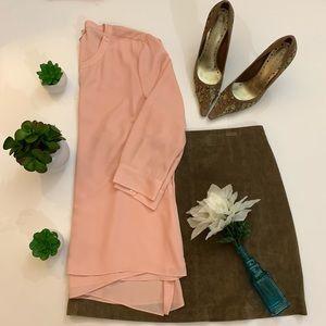 NWT J.Jill blush pink asymmetrical blouse